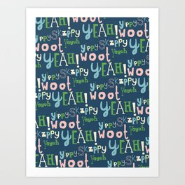 Yahoo Blue Art Print