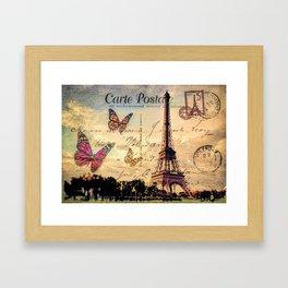 Vintage Paris-Carte Postale Framed Art Print