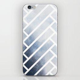 winter herringbone iPhone Skin