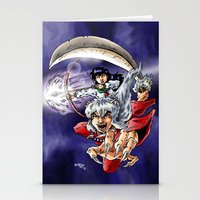 inuyasha Stationery Cards featuring Inuyasha & Kagome by MarioRojas