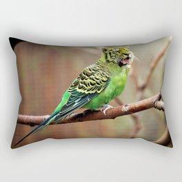 Tiger Parakeet Rectangular Pillow