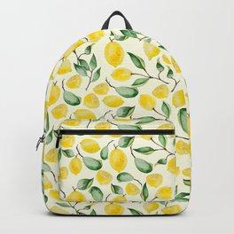 Watercolor Lemon Pattern Backpack