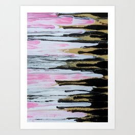 Have It All- Pink, Black and Gold Glam Print Art Print