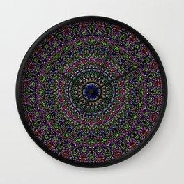 Colorful Sacred Kaleidoscope Mandala Wall Clock