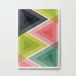 Colorful Triangle Abstract Metal Print