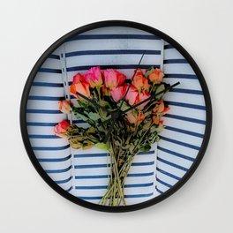 Sketchy Flowers 2 Wall Clock