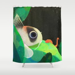 finding tubifex Shower Curtain