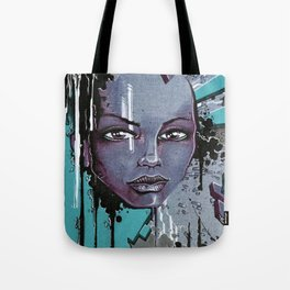 Street Girl Blue Tote Bag