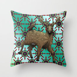White Tail Deer Throw Pillow
