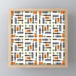 Mid Century Modern Geometric Pattern Framed Mini Art Print