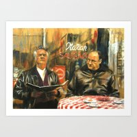 sopranos Art Prints featuring The Sopranos by Miquel Cazanya
