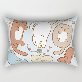 Seven cute cats. Rectangular Pillow