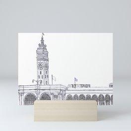 San Francisco Ferry Building Mini Art Print
