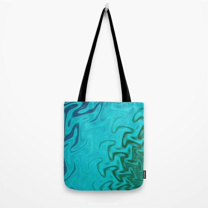 Ripples Fractal in Tropical Seas Tote Bag