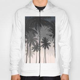 Palms trees at night Hoody