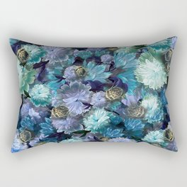 """""""Baroque floral with bugs"""" Rectangular Pillow"""