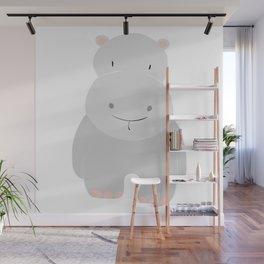 Hippo GRAY Wall Mural
