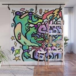 Skater Gator Wall Mural