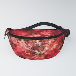 Red burst Fanny Pack