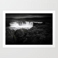 Godafoss Waterfall Art Print