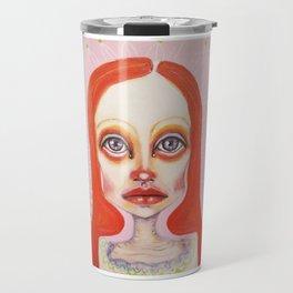 pink orange Travel Mug