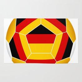 Football ball with German flag Rug