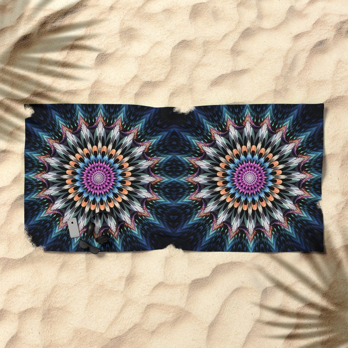 The flower of happiness Beach Towel