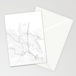 MILL VALLEY Map Print Stationery Cards