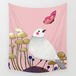 pink wall Wall Tapestry