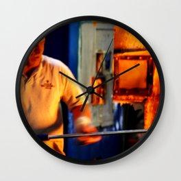 Molten Glass...On A Stick Wall Clock
