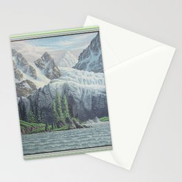 HIDDEN TOWER IN THE INLAND PASSAGE VINTAGE OIL PAINTING Stationery Cards