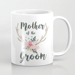 mother of the groom floral antlers Coffee Mug
