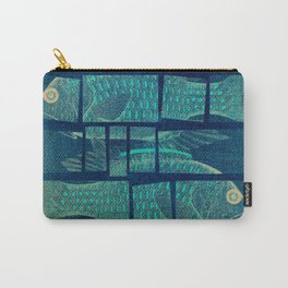 Fish Under Strong Radiation Carry-All Pouch
