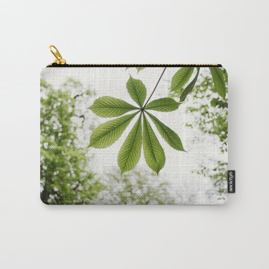 Green Spring Leaf Carry-All Pouch