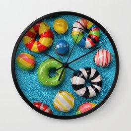 Carnival Donuts Wall Clock