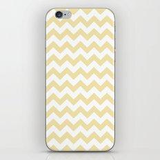Chevron (Vanilla/White) iPhone & iPod Skin