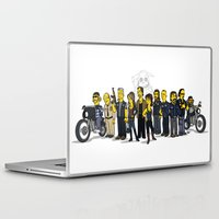 sons of anarchy Laptop & iPad Skins featuring Sons Of Anarchy cast by Adrien ADN Noterdaem