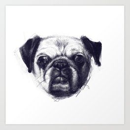 The Pug Knows All Art Print