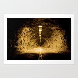 Late Hike Through Yosemite Tunnel Art Print