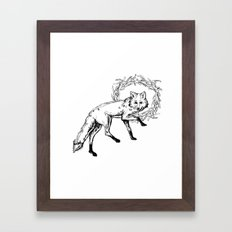 Fox King Framed Art Print