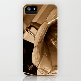 Antique Vintage Gramophone Gifts Music Lovers iPhone Case