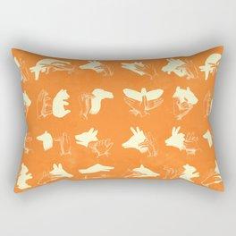 ACME Orange Shadow Puppets Rectangular Pillow