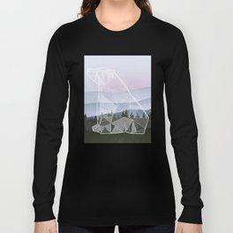 Geometric Nature - Bear (Full) Long Sleeve T-shirt