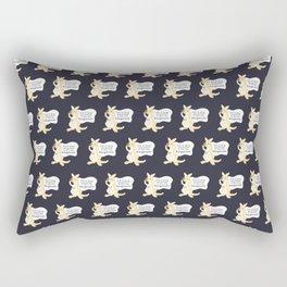 Sick of being quarantined in this kangaroom Rectangular Pillow
