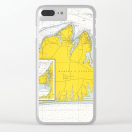 Vintage Map of Martha's Vineyard (1967) Clear iPhone Case