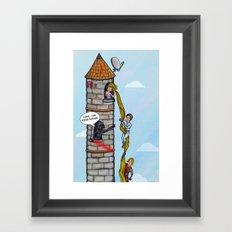 Rapunzel and Skywalker Framed Art Print