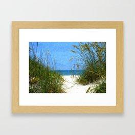 Walkway to St. Augustine Beach Framed Art Print