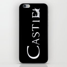 Castiel with Feather White iPhone Skin
