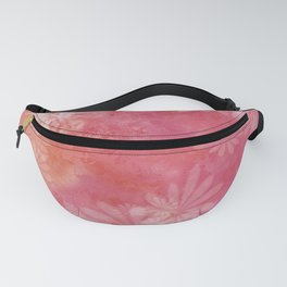 Flowers In A Pink Botanical Garden Fanny Pack