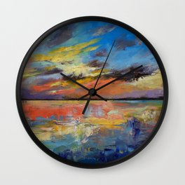 Key West Florida Sunset Wall Clock